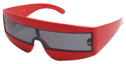 Angle of SW Retro Style #1402 in Red Frame, Women's and Men's
