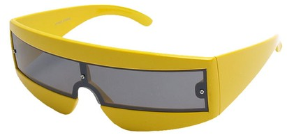 Angle of SW Retro Style #1402 in Yellow Frame, Women's and Men's