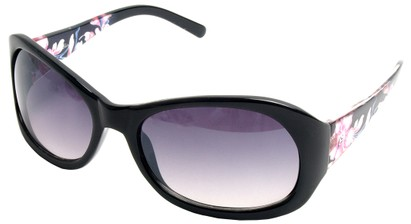 Angle of SW Floral Style #902 in Black Frame, Women's and Men's