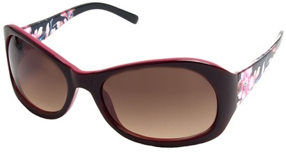 Angle of SW Floral Style #902 in Dark Pink Frame, Women's and Men's