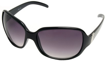 Angle of SW Oversized Style #9937 in Black Frame, Women's and Men's