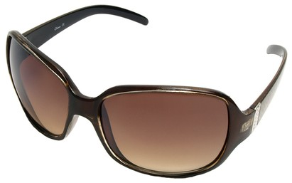 Angle of SW Oversized Style #9937 in Brown Frame, Women's and Men's