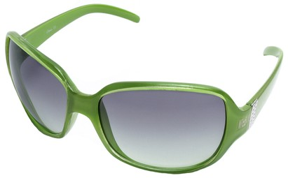 Angle of SW Oversized Style #9937 in Green Frame, Women's and Men's