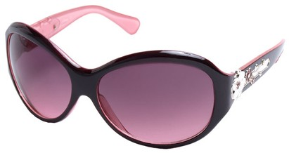 Angle of SW Flower Style #9944 in Maroon and Pink Frame, Women's and Men's