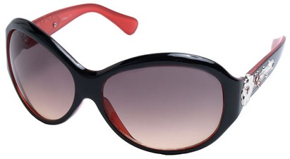 Angle of SW Flower Style #9944 in Black and Red Frame, Women's and Men's