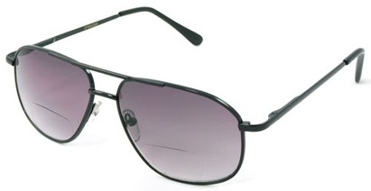 Angle of Flight #9952 in Black Frame, Women's and Men's Aviator Reading Sunglasses