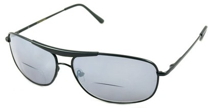 Angle of Beckett #9953 in Black, Women's and Men's Aviator Reading Sunglasses