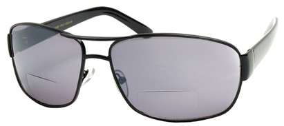 Angle of Jim #9954 in Black Frame, Women's and Men's Aviator Reading Sunglasses