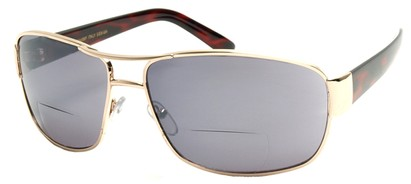 Angle of Jim #9954 in Gold Frame, Women's and Men's Aviator Reading Sunglasses
