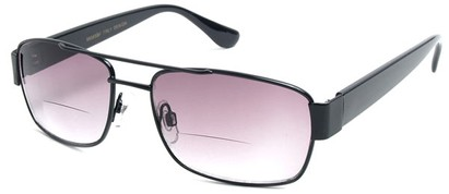 Angle of SW Aviator Bifocal Style #9956 in Black, Women's and Men's