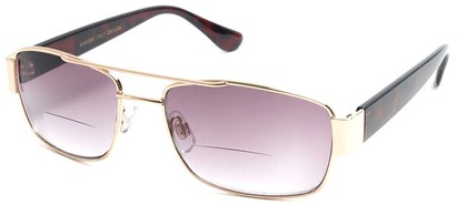 Angle of SW Aviator Bifocal Style #9956 in Gold and Tortoise, Women's and Men's