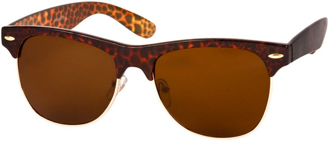 Clubmaster Style Sunglasses  animal print cheetah zebra snakeskin retro sunglasses