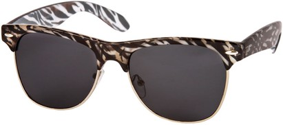 Animal Print Clubmaster Style Sunglasses