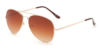 Angle of Admiral #490 in Gold Frame with Amber Fade Lenses, Women's and Men's Aviator Sunglasses