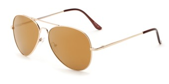 Angle of Admiral #490 in Gold Frame with Mirrored Lenses, Women's and Men's Aviator Sunglasses