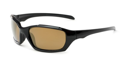 Angle of Arctic #602 in Black Frame with Gold Mirrored Lenses, Men's Sport & Wrap-Around Sunglasses