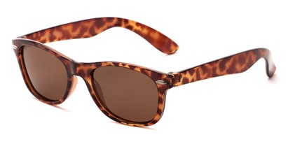 Angle of Arrowhead #8411 in Tortoise Frame with Amber Lenses, Women's and Men's Retro Square Sunglasses