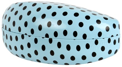 Angle of Extra Large Polka Dot Case #2207 in Blue Polka Dot, Women's and Men's