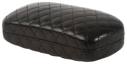 Black Quilted Sunglasses Case