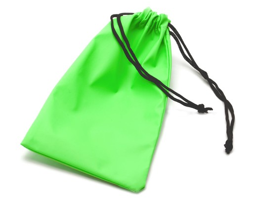 Angle of SW Drawstring Pouch #1111 in Green, Women's and Men's  Soft Case