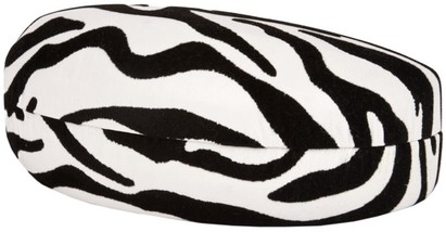 Angle of Extra Large Zebra Print Case #685 in Black/White Zebra, Women's and Men's