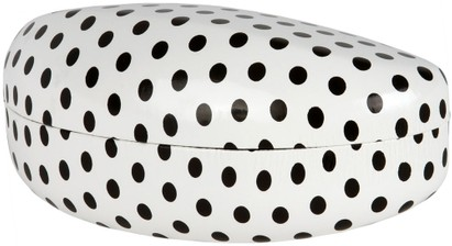 Angle of Extra Large Polka Dot Case #2207 in White Polka Dot, Women's and Men's