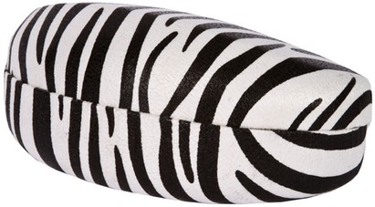 Angle of Extra Large Faux Zebra Case #1006 in White/Black, Women's and Men's