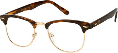 Angle of Burt #627 in Brown Tortoise/Gold Frame, Women's and Men's Retro Square Sunglasses