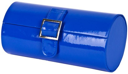Angle of Medium Patent Buckle Case #775 in Royal Blue, Women's and Men's