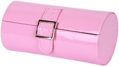 Angle of Medium Patent Buckle Case #775 in Light Pink, Women's and Men's