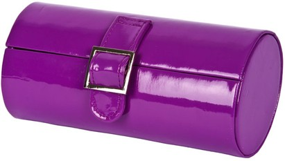 Angle of Medium Patent Buckle Case #775 in Purple, Women's and Men's