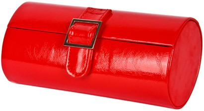 Angle of Medium Patent Buckle Case #775 in Red, Women's and Men's