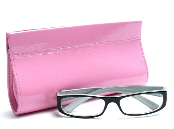 Angle of Sunglasses Clutch Case in Pink, Women's and Men's