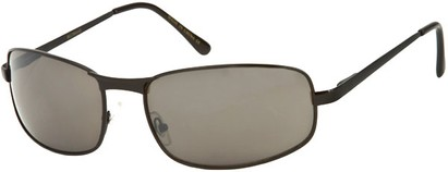 Angle of Bellagio #1805 in Black Frame with Grey Lenses, Women's and Men's Square Sunglasses