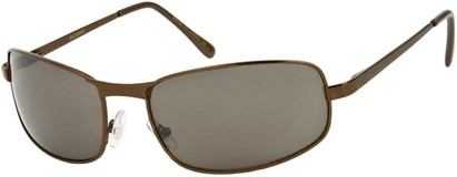 Angle of Bellagio #1805 in Bronze Frame with Grey Lenses, Women's and Men's Square Sunglasses