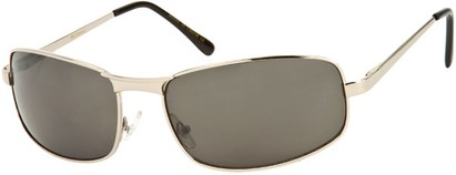 Angle of Bellagio #1805 in Silver Frame with Grey Lenses, Women's and Men's Square Sunglasses