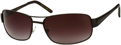 Angle of Erie #1580 in Black Frame with Smoke Lenses, Women's and Men's Aviator Sunglasses