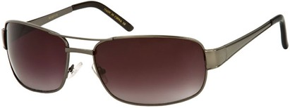 Angle of Erie #1580 in Matte Grey Frame with Smoke Lenses, Women's and Men's Aviator Sunglasses