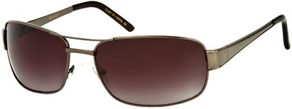 Angle of Erie #1580 in Glossy Grey Frame with Smoke Lenses, Women's and Men's Aviator Sunglasses