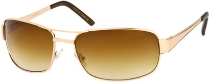 Angle of Erie #1580 in Gold Frame with Amber Lenses, Women's and Men's Aviator Sunglasses