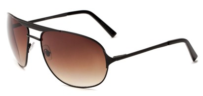 Angle of Takeoff #2005 in Black Frame with Amber Lenses, Women's and Men's Aviator Sunglasses