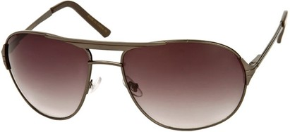 Angle of Takeoff #2005 in Grey Frame with Smoke Lenses, Women's and Men's Aviator Sunglasses