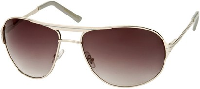 Angle of Takeoff #2005 in Silver Frame with Smoke Lenses, Women's and Men's Aviator Sunglasses