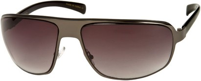 Angle of SW Large Aviator Style #1170 in Grey/Black Frame with Smoke Lenses, Women's and Men's