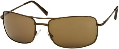 Angle of SW Large Square Aviator Style #1618 in Bronze/Brown Frame with Amber Lenses, Women's and Men's