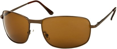 Angle of Anchorage #8855 in Bronze Frame with Amber Lenses, Women's and Men's Square Sunglasses