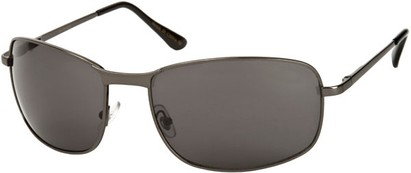 Angle of Anchorage #8855 in Glossy Grey Frame with Grey Lenses, Women's and Men's Square Sunglasses