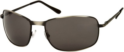 Angle of Anchorage #8855 in Matte Grey Frame with Grey Lenses, Women's and Men's Square Sunglasses