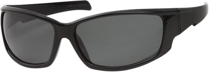 Angle of Alps #1898 in Black Frame with Grey Lenses, Women's and Men's Sport & Wrap-Around Sunglasses