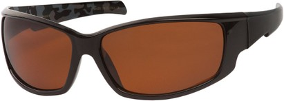 Angle of Alps #1898 in Black/Camo Frame with Amber Lenses, Women's and Men's Sport & Wrap-Around Sunglasses